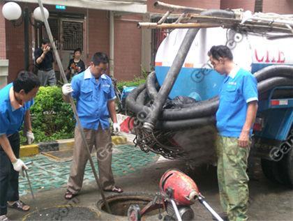 高压清洗油污管道隔油池